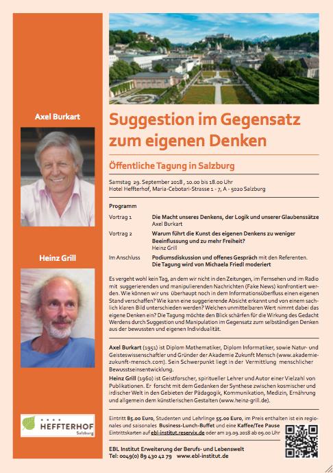 Tagung in Salzburg - Axel Burkart und Heinz Grill @ Hotel Heffterhof